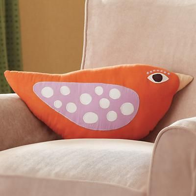 orange polka dot birdie