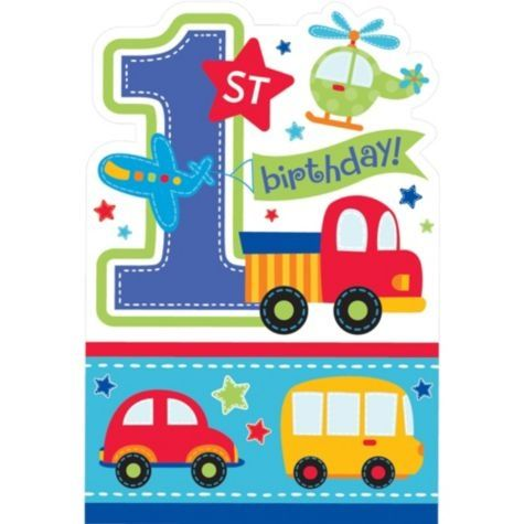 Candy BP-54p Pack of 10 Childrens Party Invitations