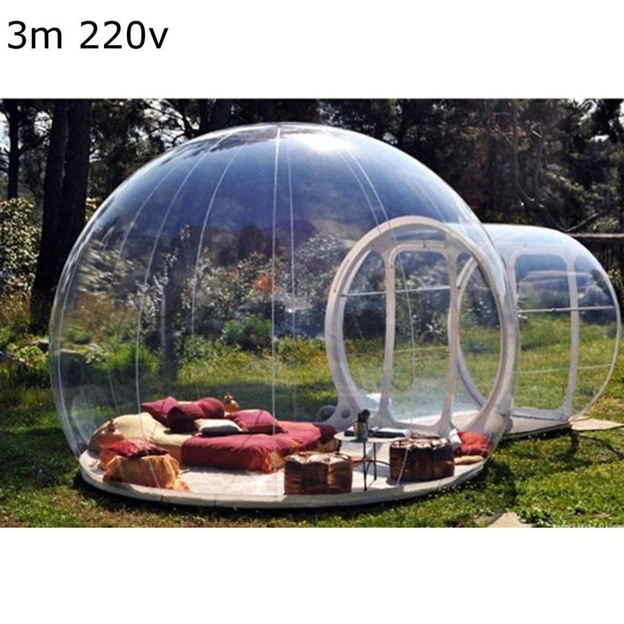 Inflatable Eco Home Tent Diy House Luxury Dome Camping Cabin Lodge Air Bubble Bubble Tent Outdoor Inflatables Bubble House