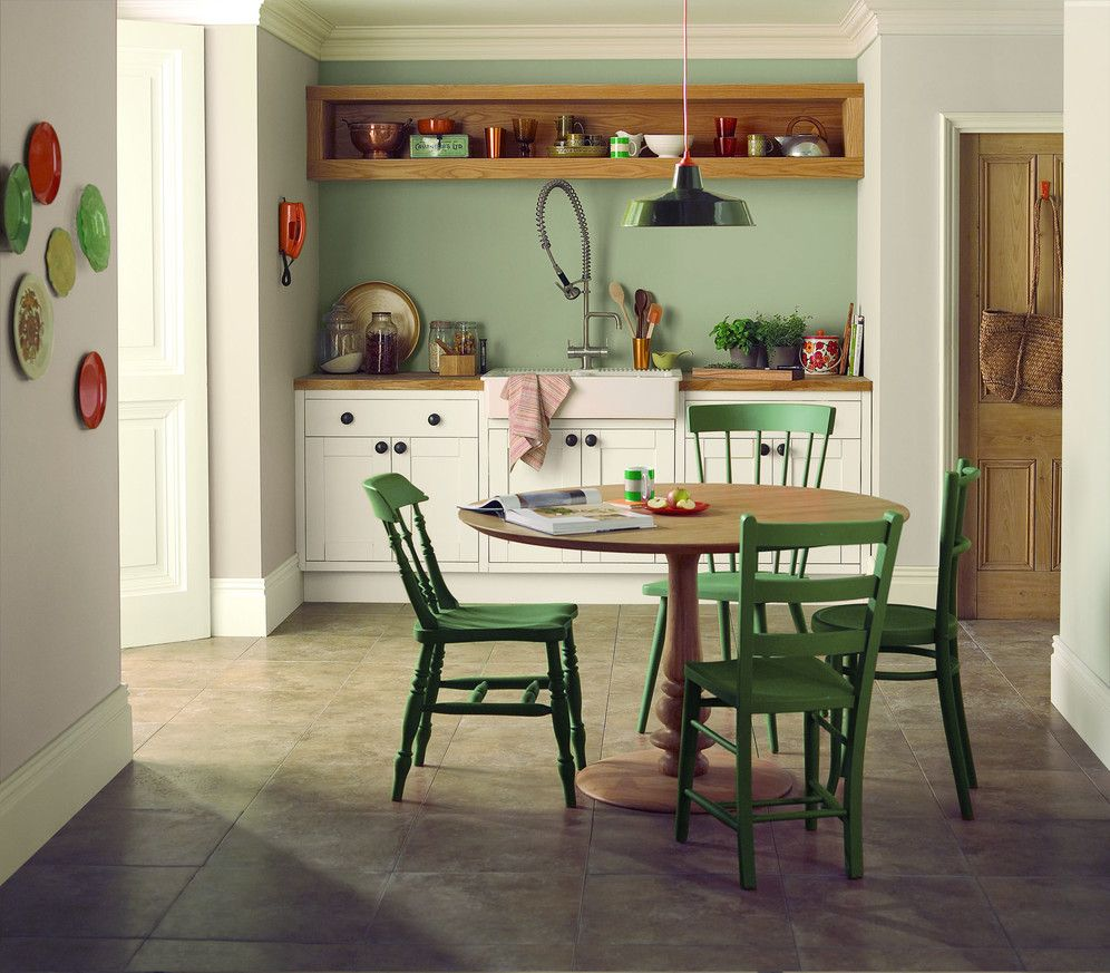 Green Kitchen Diner: Love This Green For My Feature Wall (in General I Hate Feature Walls But It Is Necessary