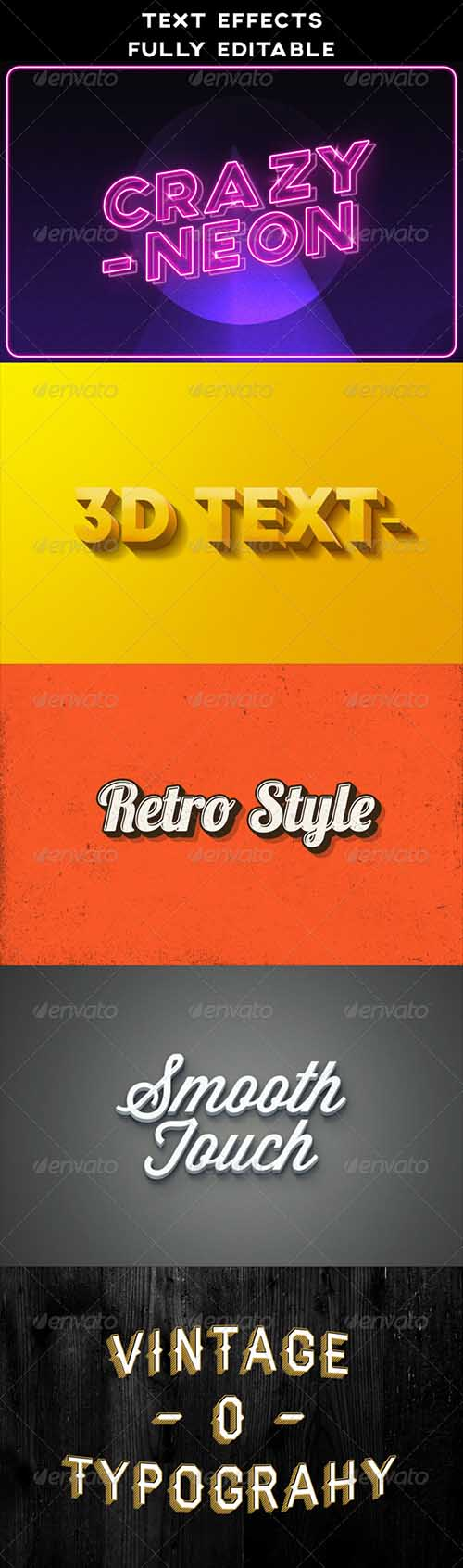 Text Effects | Vintage | 3D | Retro | Neon 8485886 » Free