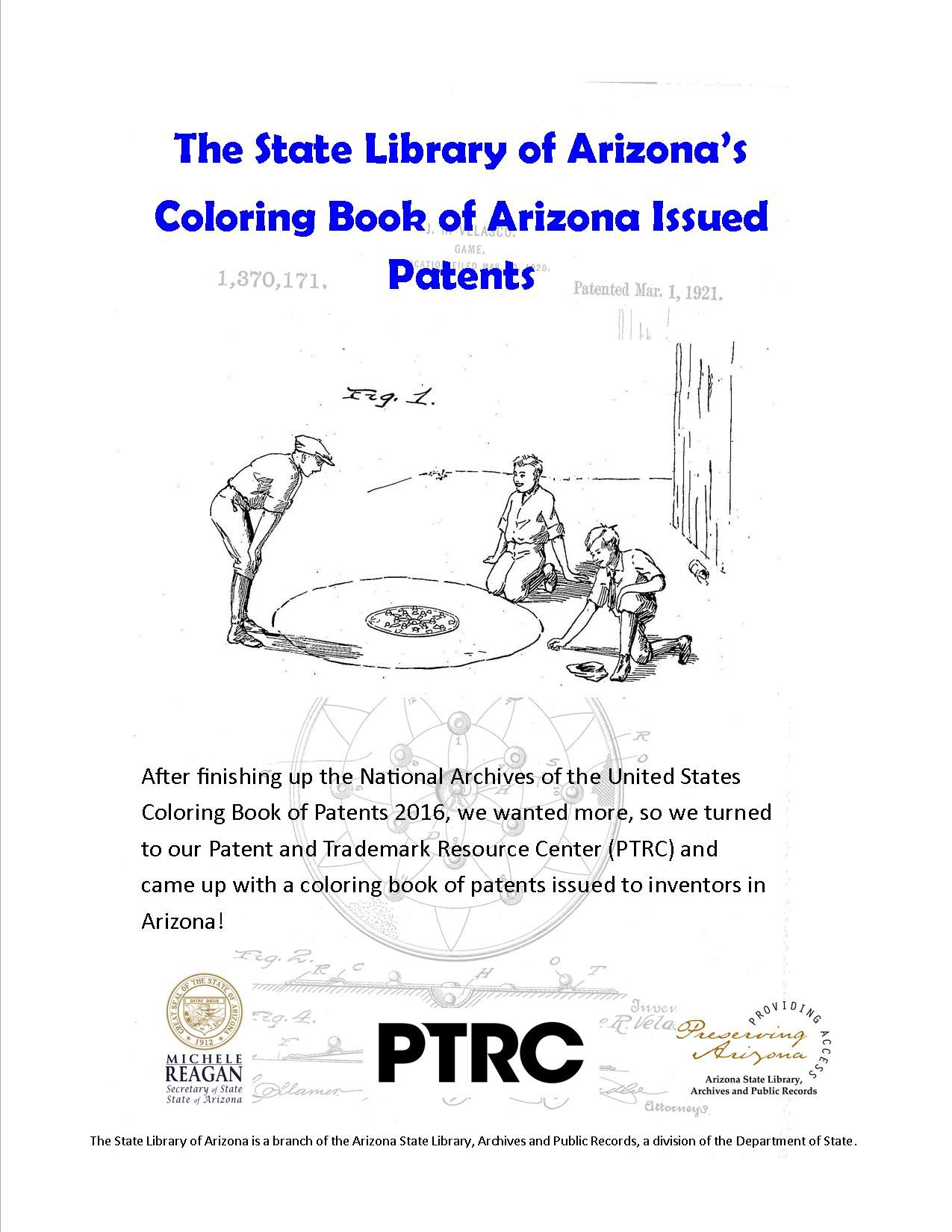 Check Out Our Arizona Issued Patents Coloring Book