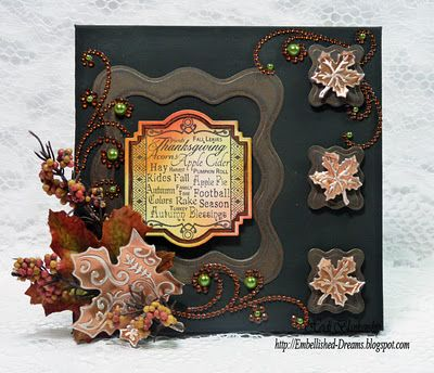 Autumn Card designed by Heidi Blankenship using Autumn Labels Twenty