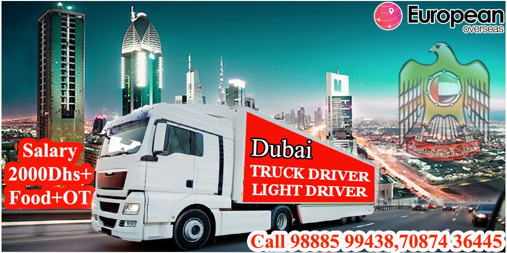 Truck Driver Salary >> Required Driver In Dubai Truck Driver Light Driver Salary
