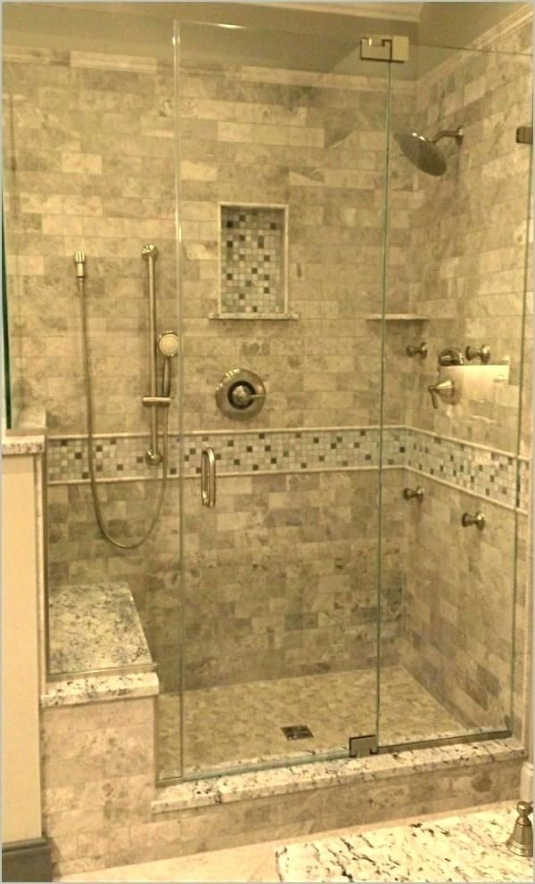 tile shower bench ideas seat a purchase stone walk in design ...