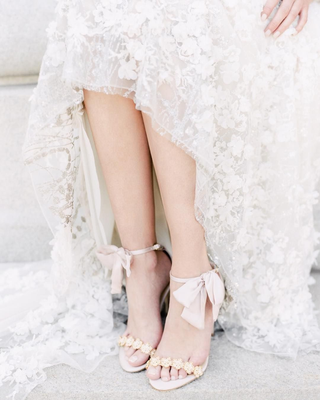Bella Belle Shoes On Instagram A Blush Silk Bow Adds Elegance To