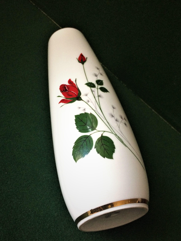 Vintage Vase Winterling Röslau Bavaria Etsy Vintage Vasen Altes Porzellan Porzellan