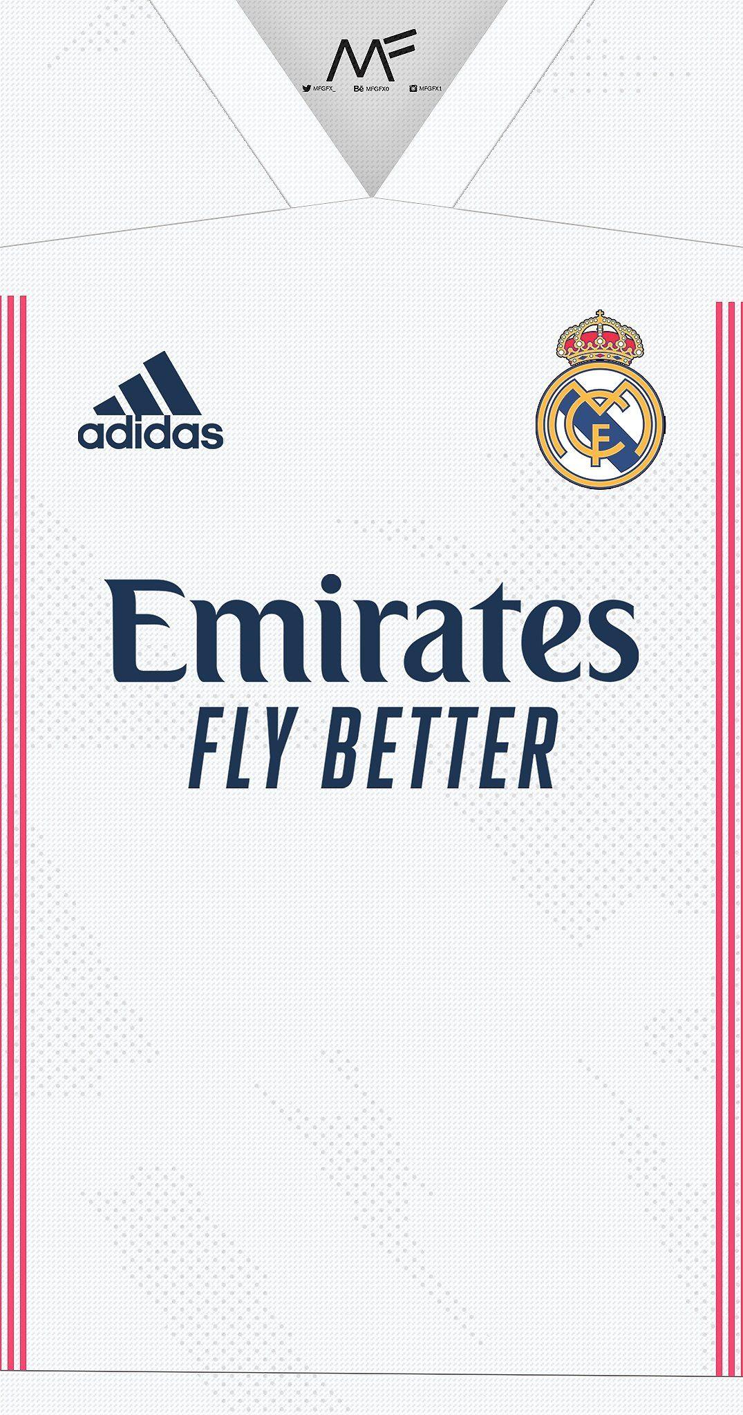 Real Madrid 2020 2021 Fonds D Ecran Des Kits Domicile Et Exterieur Camisetas De Equipo Camisetas De Futbol Fondos De Pantalla Real Madrid