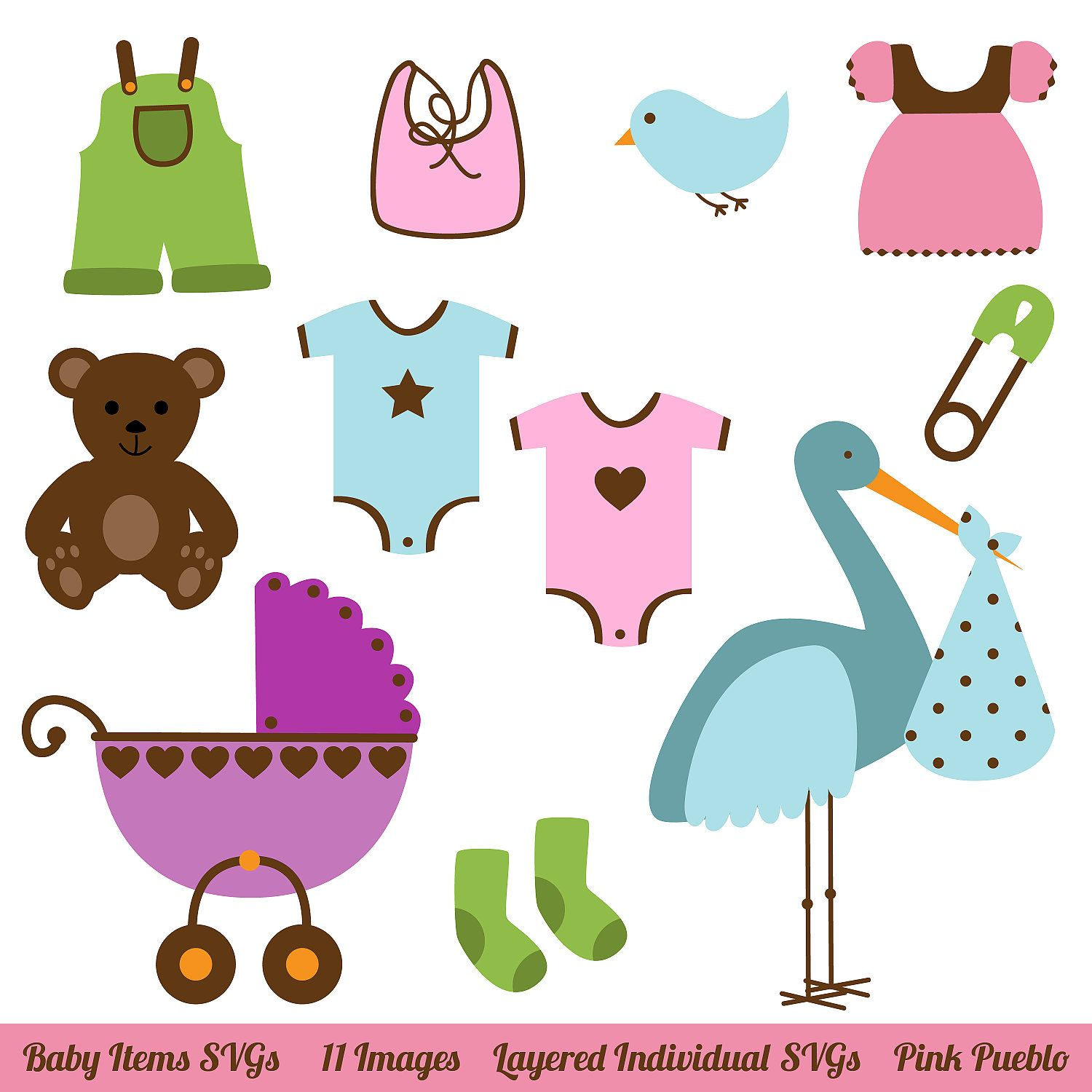 Baby Items SVGs Baby Shower SVGs mercial and Personal Use