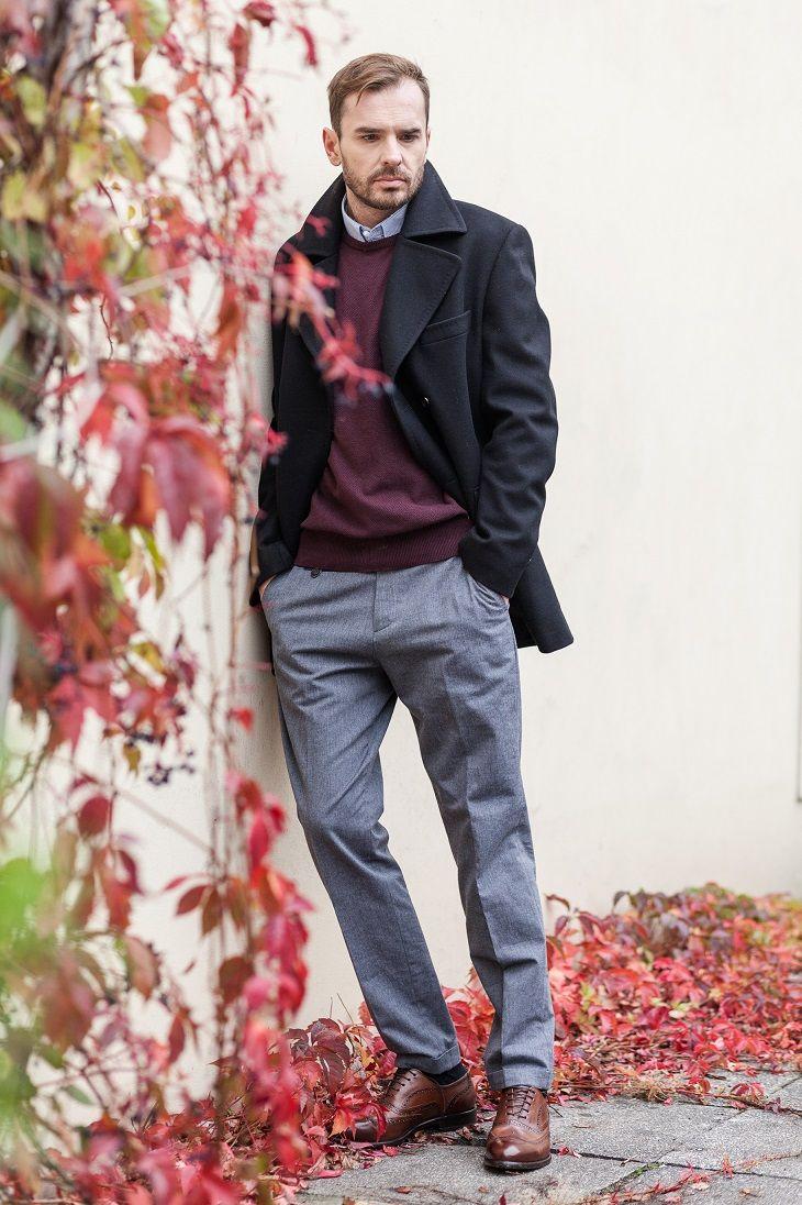 Foto Kasia Klimkowska Simply Studio Model Przemyslaw Nowacki Outerwear Winter Fashion Model