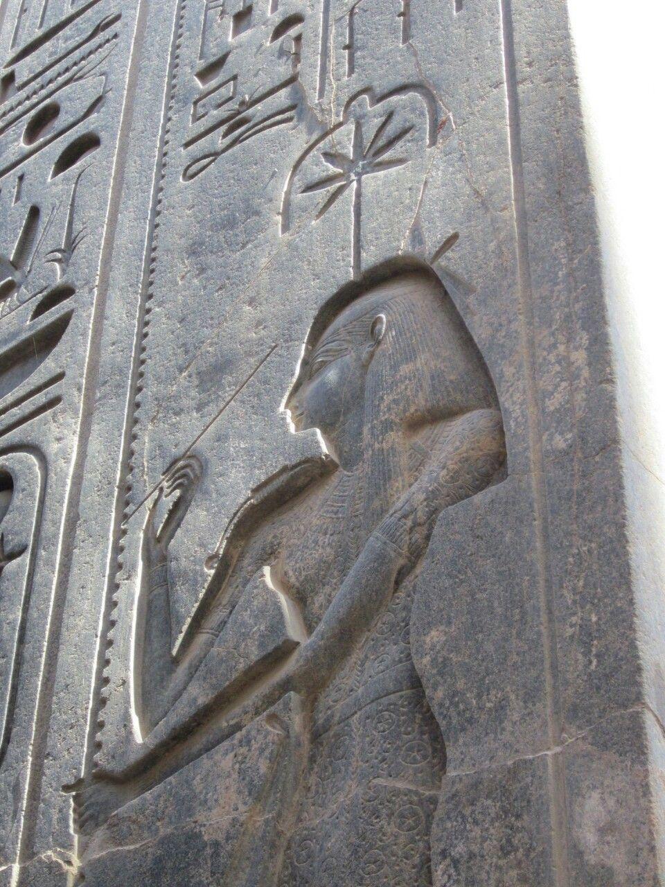 Seshat, the goddess of writing… Photo taken in Luxor temple