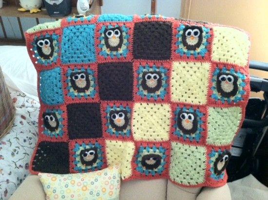 Owl Granny Square Afghan Pattern Free   Pinterest