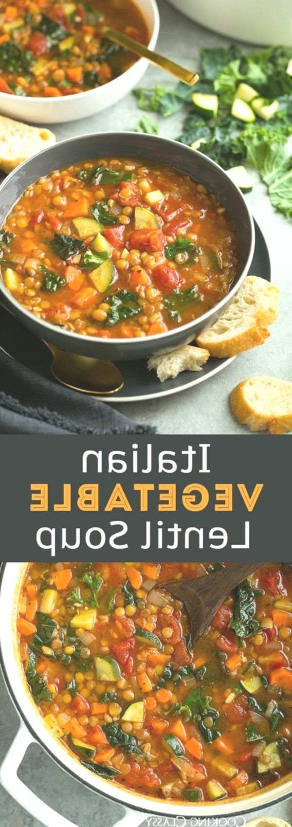 Italian Vegetable Lentil Soup - Seriously healthy soup and it's perfectly de...,