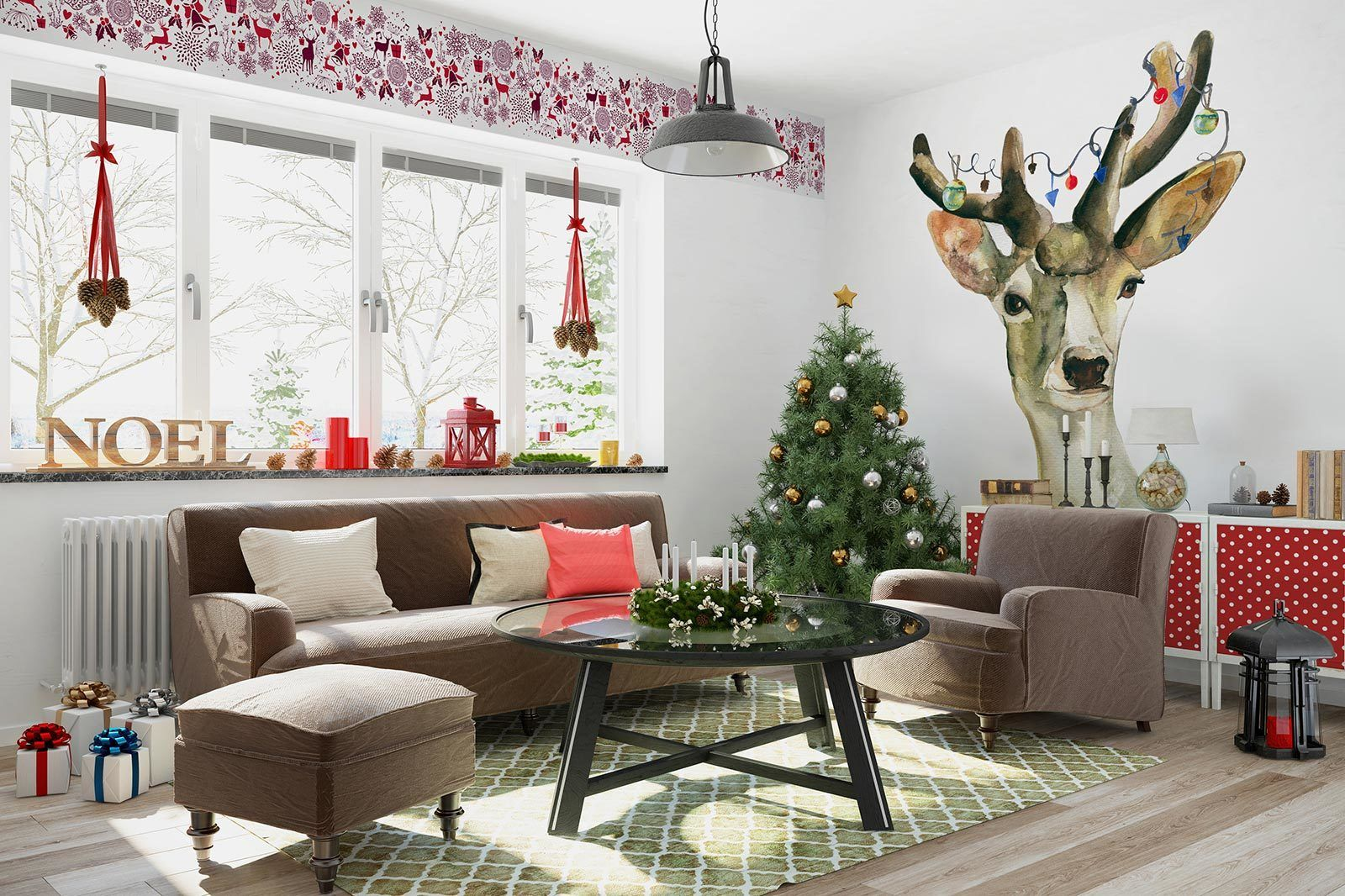 Add Holiday Charm to Your Walls With Christmas Murals Christmas