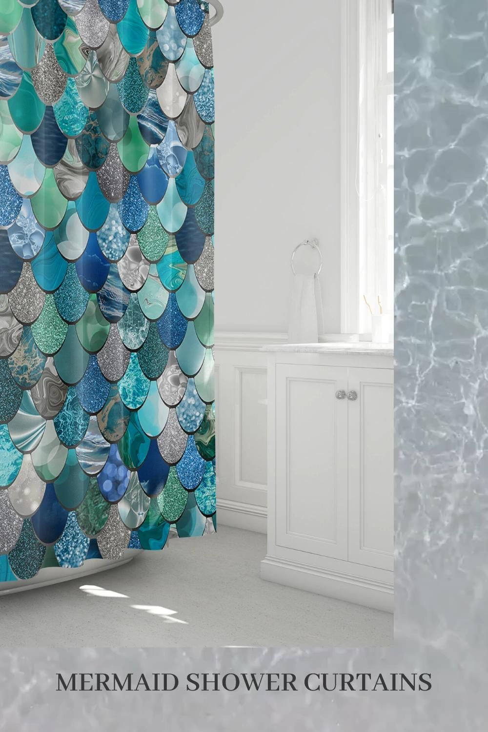 Pin On Mermaid Shower Curtains