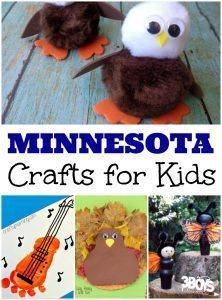 Minnesota Crafts for Kids is part of Kids Crafts Activities Hands - The state of Minnesota is known as the 'Land of 10,000 Lakes' and with good reason! This state is packed with bodies of water, including some famous ones such as Lake Minnetonka  Along with its lakes, Minnesota also features tall mountains, large forests, and all kinds of wildlife! Use these cute Minnesota crafts for kids to help your children learn about this U S  state in a fun, handson way! There are activities below that highlight the state's natural landscape, flora and fauna, and residents! One of the largest industries in Minnesota is farming, including pumpkin farming! Read some of these neat children's