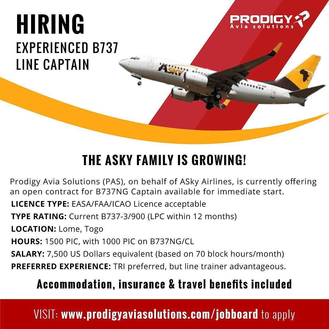 Prodigy Avia Solutions (PAS) on behalf of its client ASky