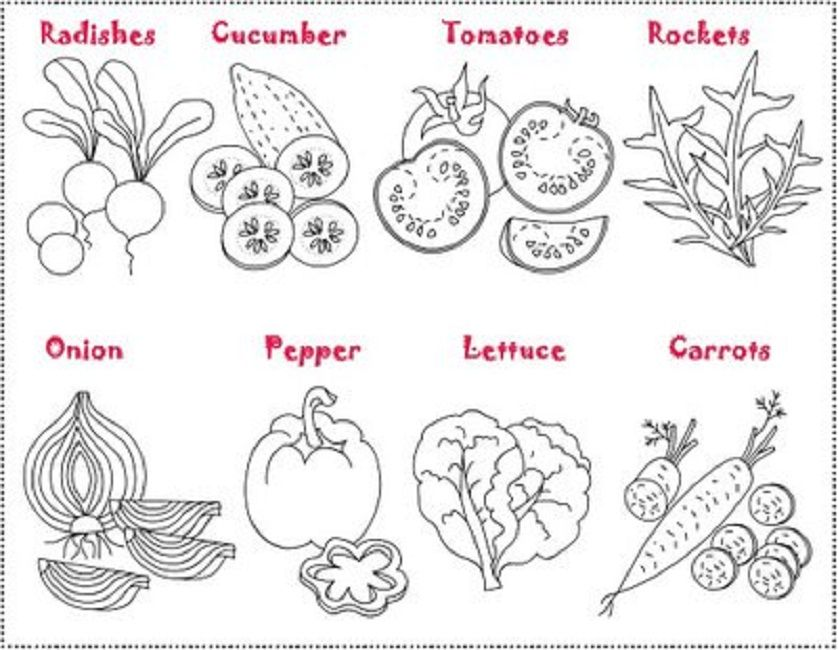 spring vegetables coloring pages Food Pinterest - copy coloring pages of vegetables