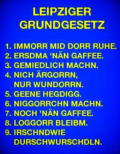 Sprache lustig sächsische Sächsisch