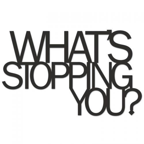Dekoracyjny Napis What S Stopping You Tlumaczenie Co Cie Powstrzymuje Word Art Wall Decor Happy Larry Word Wall Art