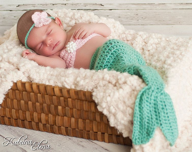 Baby mermaid photo prop