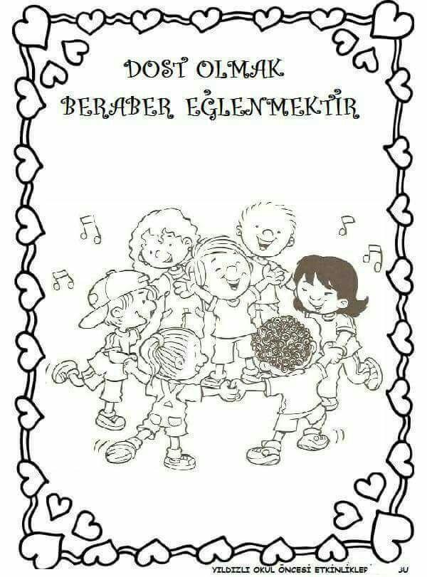 Okulda Ilk Gun Uyum Haftasi Etkinlikleri Ve Hediyeri 218 Preschool Activity Okul Boyama Sayfalari Rehber Ogretmen