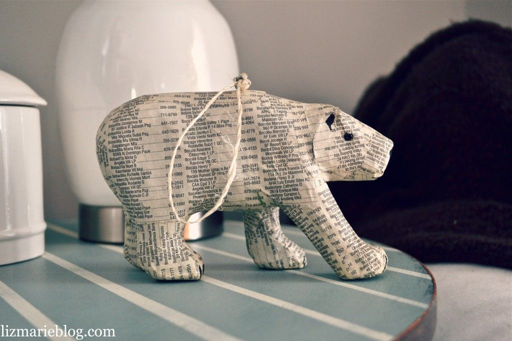 DIY book page ornament {Inspiration} HOLIDAY CRAFT PAPER