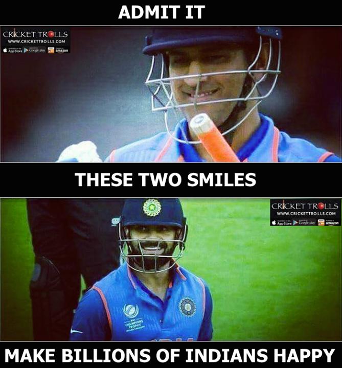 MS Dhoni & Virat Kohli ) CT2017 For more cricket fun