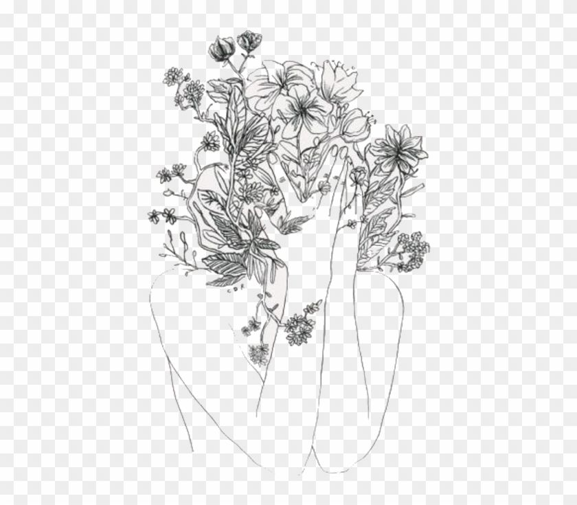 9135e60bb2623a873e17828a2c9983c8 » Aesthetic Flower Drawing