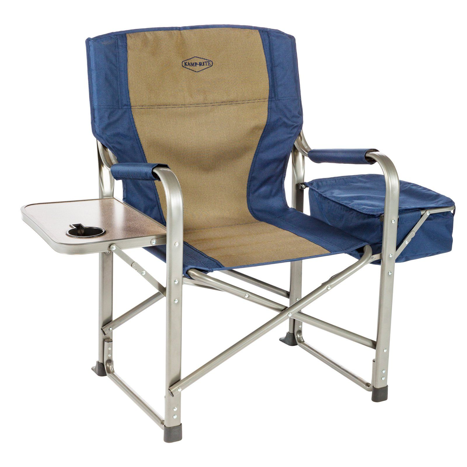 Folding Camp Chair With Side Table Outdoor Kamp Rite Directors Chair With Side Table And Built In