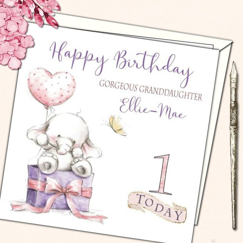 Details about Personalised Birthday Card 1st first 2nd