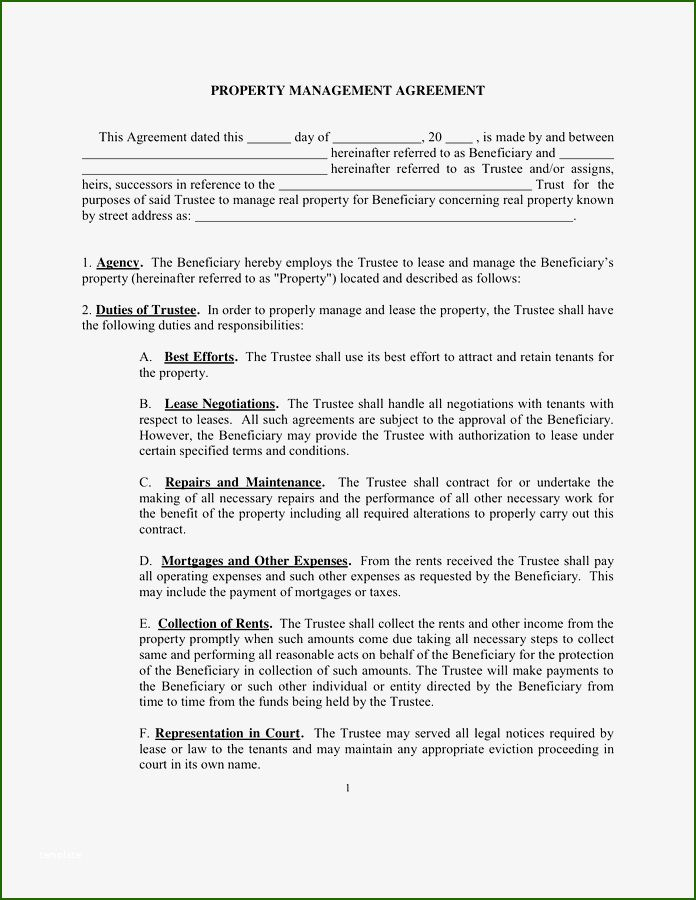 17 Perfect Property Management Agreement Template That