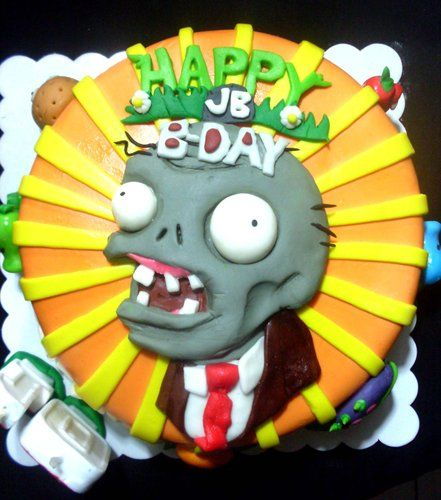 Cute cake Plants vs Zombies cake my 3 year old daughter just