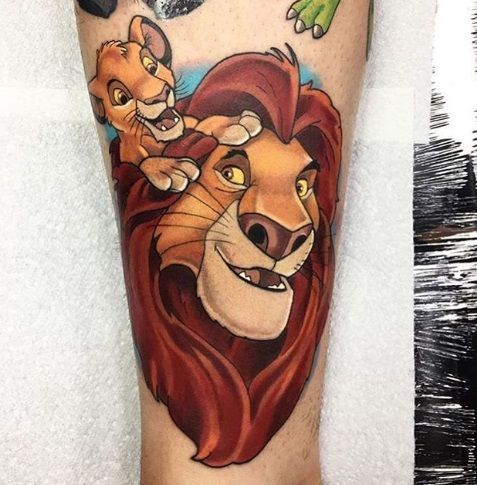 44 Amazing Disney Tattoos Lion King Tattoo Disney Sleeve Tattoos Disney Tattoos