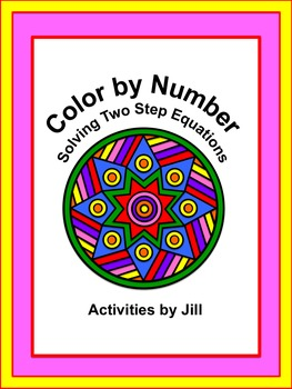 Solving Two Step Equations Color by Number | | Math • Middle School ...