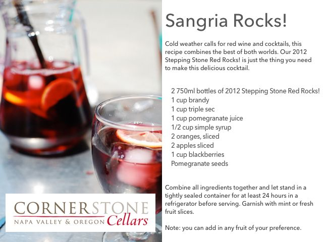 We're excited for #NationalSangriaDay tomorrow. Check out our Sangria Rocks! recipe.