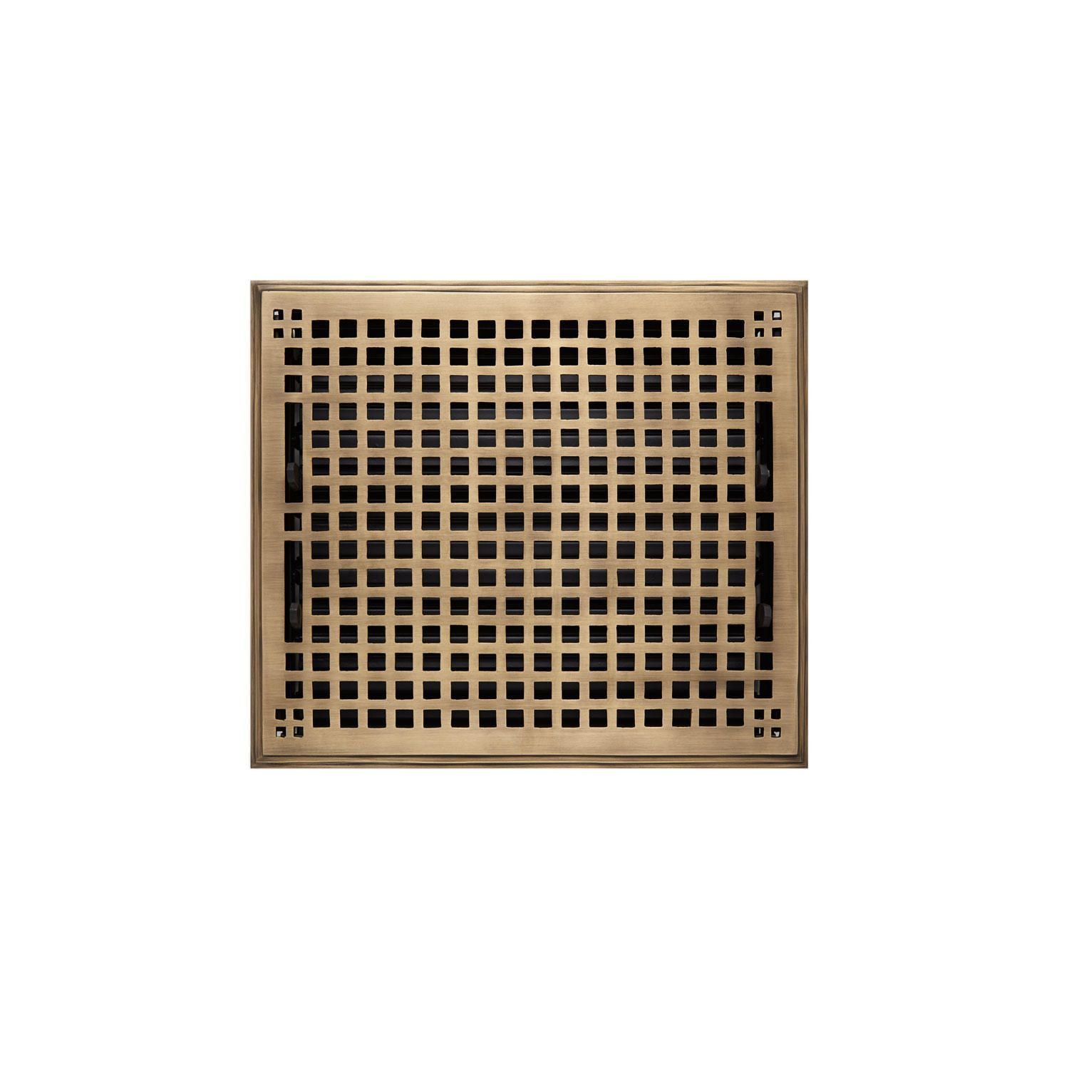 Mission Brass Floor Register Antique Brass 10 X 12 11 1 2 X 13 3 8 Overall Wall Registers Wall Vents Wall Vent Covers