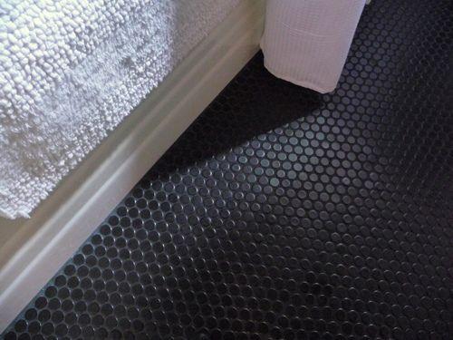 black penny tile grout black