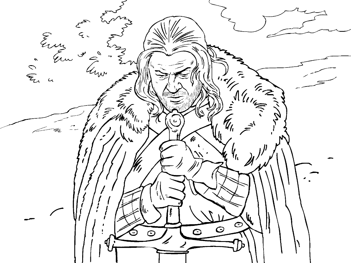 Eddard Stark | Color me pretty-GOT | Pinterest