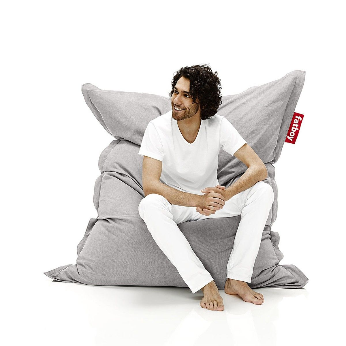 Fatboy Bean Bag The Original Stonewashed Silver