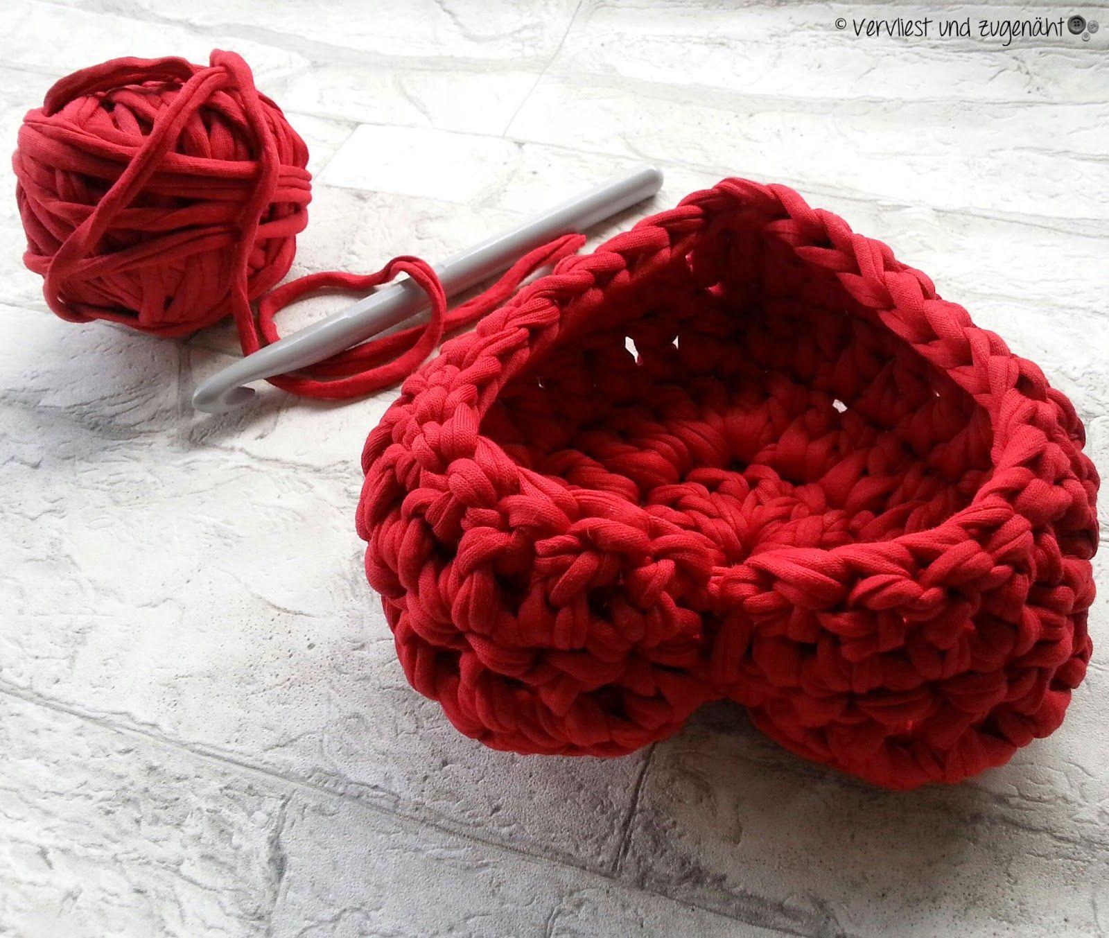 Herz Zpagetti Körbchen | Amigurumi, Crochet and Yarns