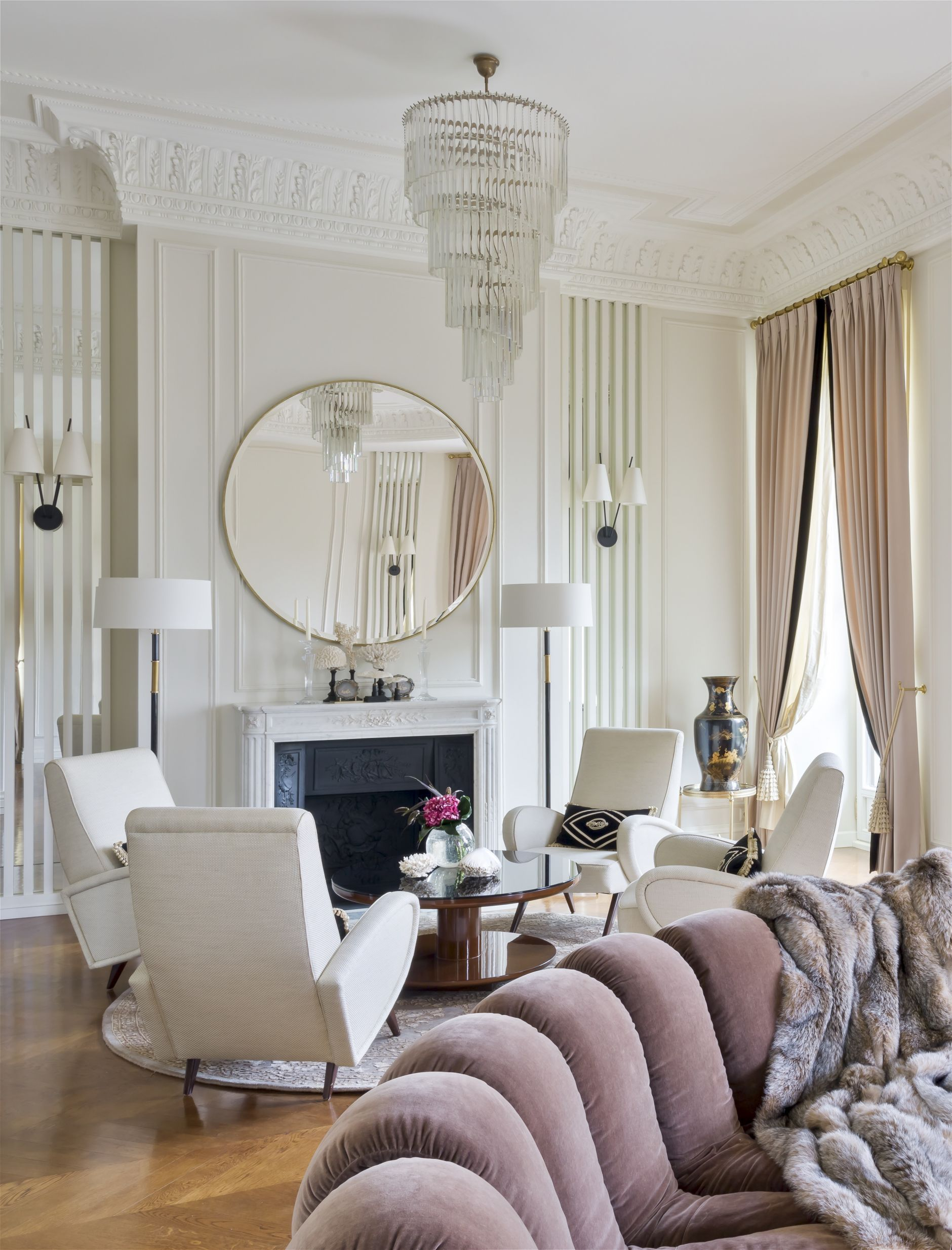 The Timeless Contemporary Art Deco Apartment In Moscow Disi Couture Art Deco Living Room Luxury Living Room Living Room Interior