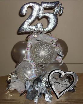 25th anniversary balloon centerpiece triad winston salem for 25th anniversary decoration