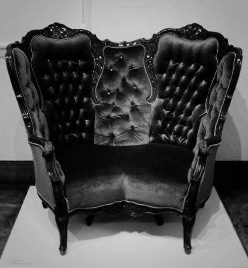 Gothic Victorian Furniture gothic cuddle chair check us out on fb- unique intuitions