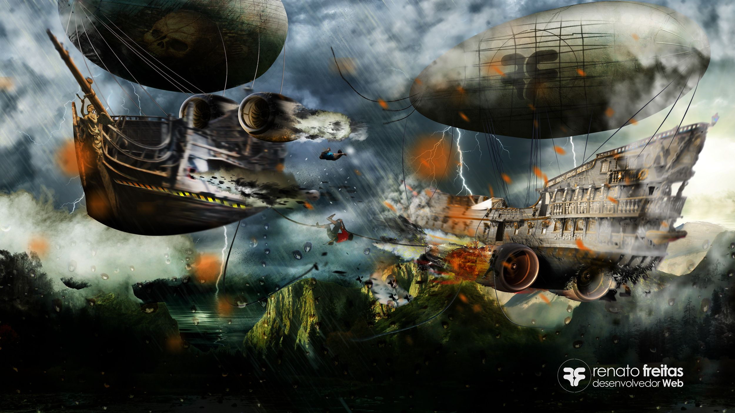 Airship Pirate Speed Art - #Photoshop CC http://www.youtube.com/watch?v=ey0Hc7Dj-P0