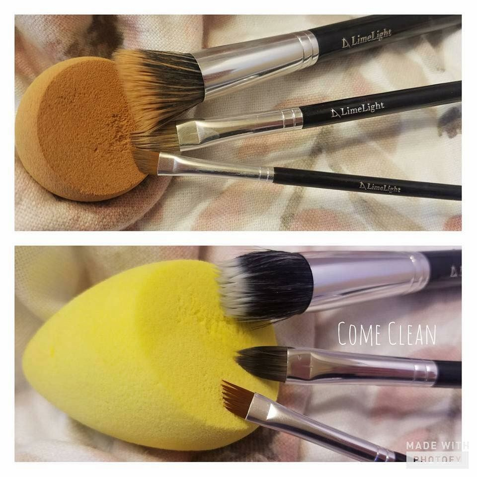 Come clean brush and sponge cleaner Top makeup products