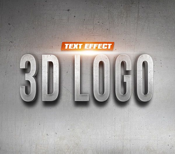 3d logo mockup 9 styles free download