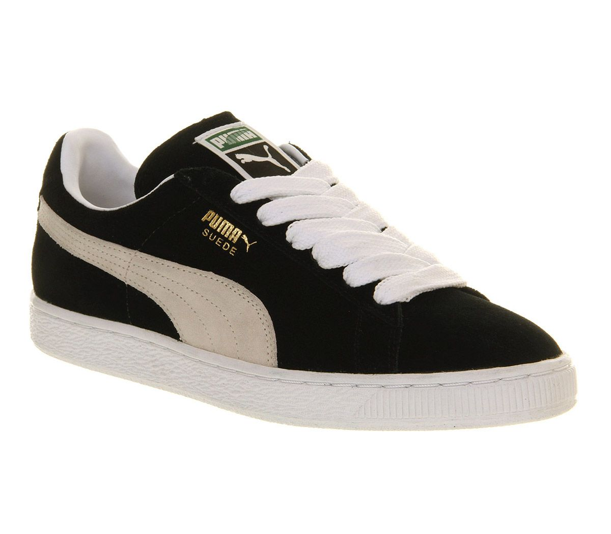 puma suede classic black white unisex sports shoes. Black Bedroom Furniture Sets. Home Design Ideas