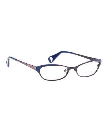 Look what I found on #zulily! Indigo Fancy Eyes Eyeglasses by Betsey Johnson #zulilyfinds
