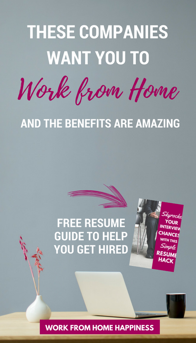 These Companies Want You To Work From Home Full Time Work From